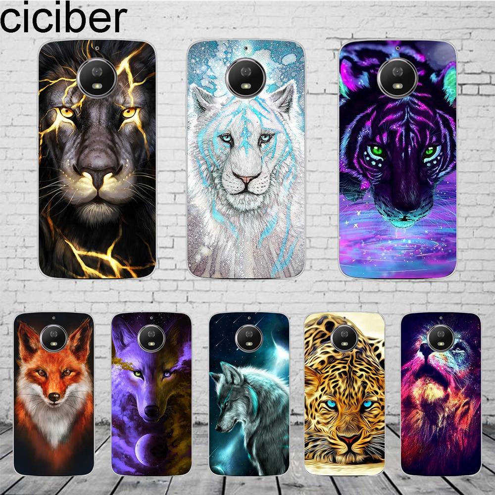 Animal Lion Tiger For Motorola Moto C Z2 Z3 ONE P30 G4 G5 G5S G6 E3 E4 E5 Play Plus Power M X4 Phone Case Silicone TPU