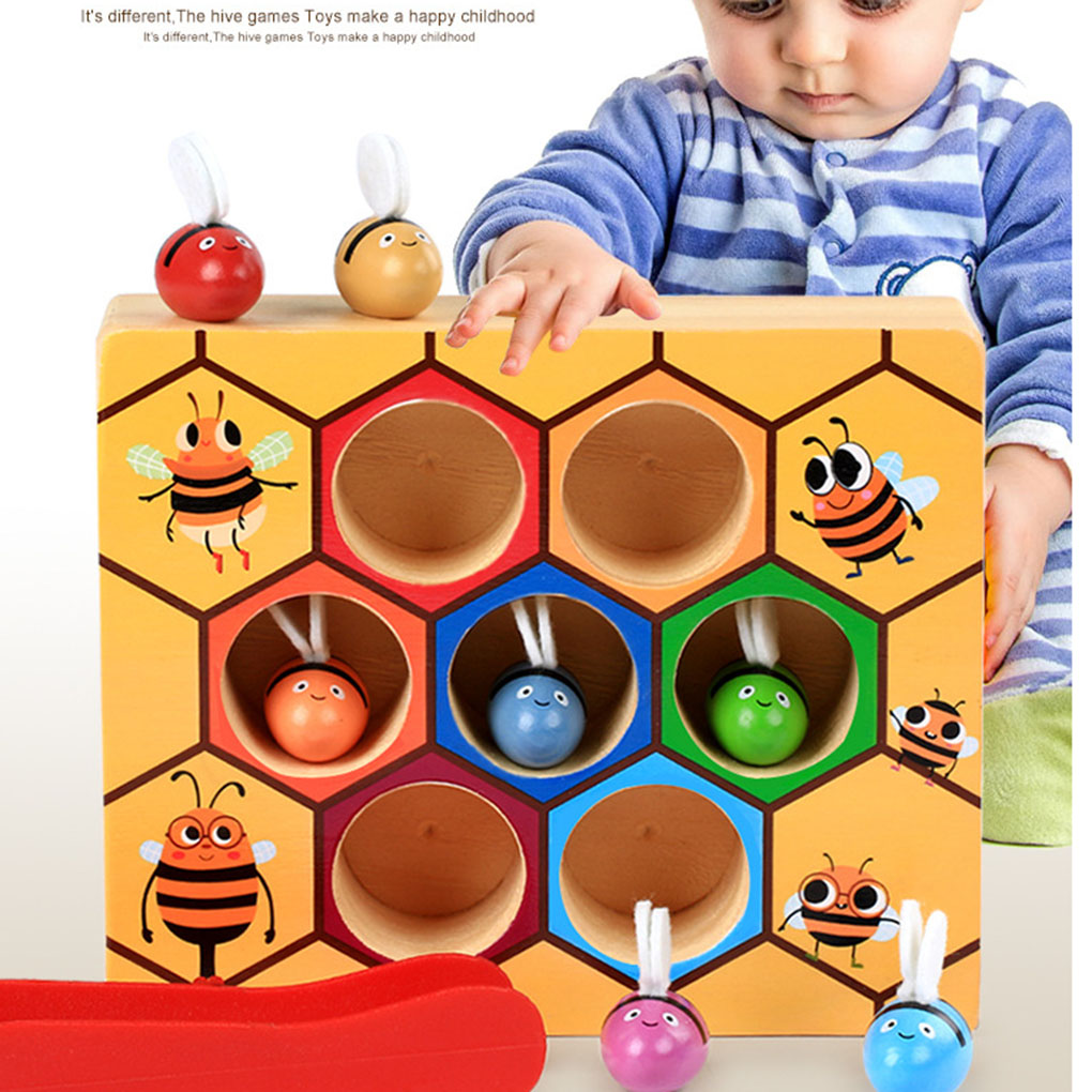 Bee Hive Board Games Building Blocks Bee Toys Childhood Educational Wooden Hot