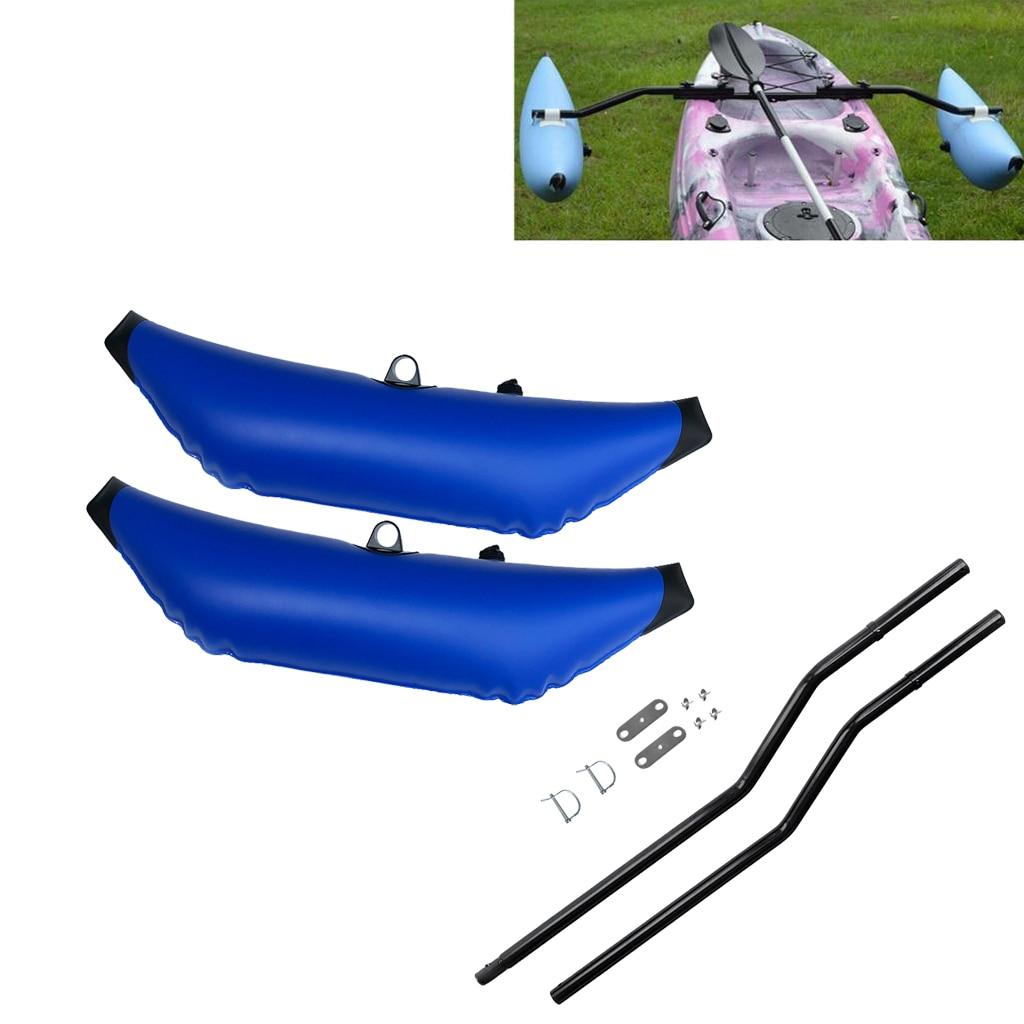 2 X stabilisateur de stabilisateur gonflable en PVC et Kit d'acolyte Ama pour la pêche en Kayak