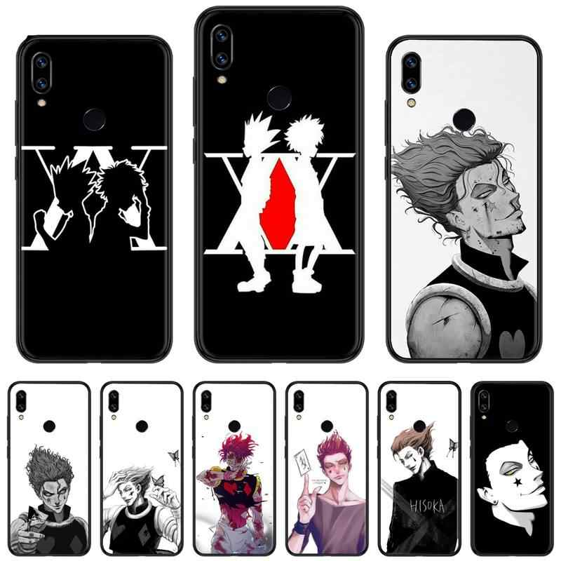 Hunter x hunter anime menino tv diy pintado bling caixa do telefone para xiaomi redmi nota 4 4x5 6 7 8 pro s2 plus 6a pro