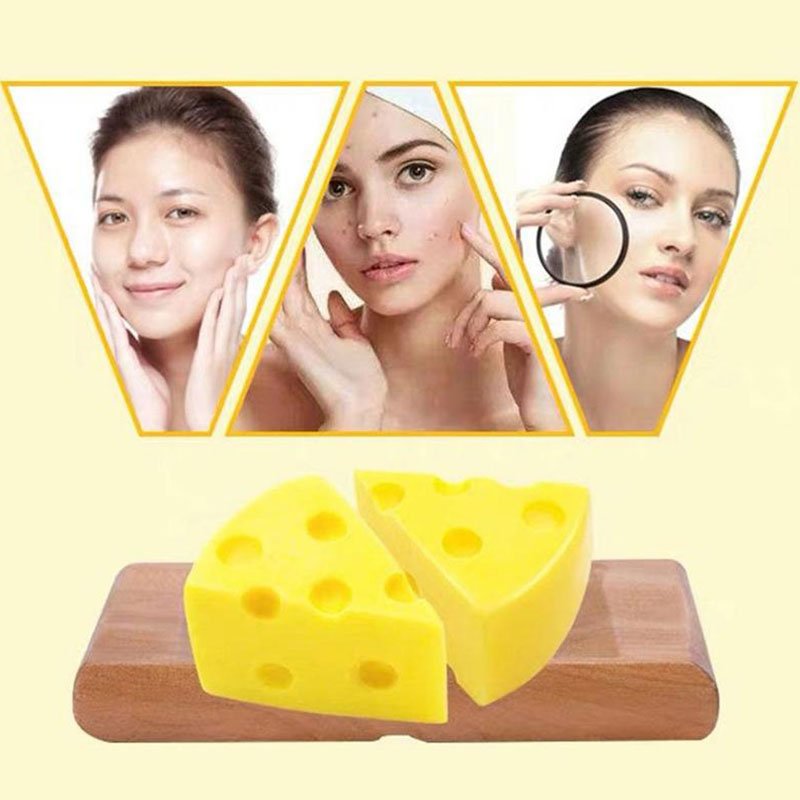Cheese Soap Moisturizing Oil-control Anti-mites Condensed Soap Cleaning Soap