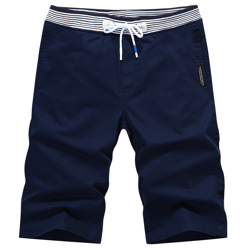 Fashion Men Shorts Cotton Casual Knee Length Business Shorts Homme Mid Waist Drawstring Male Shorts With Side Pockets Plus 4XL