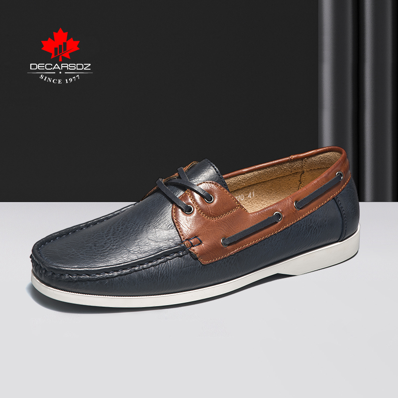 DECARSDZ Men Shoes 2021 Fashion Summer Autumn Loafers Shoes Men Comfy High Quality Leather Drive Footwear New Men Casual Shoes
