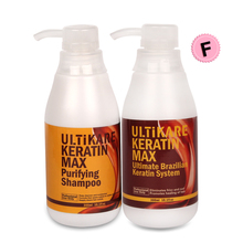 300ml Free Formalin Keratin Hair Treatment Straighten Fizzy Hair 300ml Purifying Shampoo Straighten Smooth Repair Damage Hair