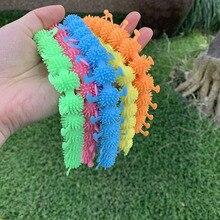 3PCS Kids FIdget Toys Elastic TPR Caterpillar Toy Adult Decompression Tool Stress Relief Calmness Toy