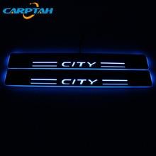CARPTAH Trim เหยียบรถภายนอกอะไหล่ LED Door Sill Scuff Plate Pathway Dynamic Streamer สำหรับ Honda City Grace 2015   2019