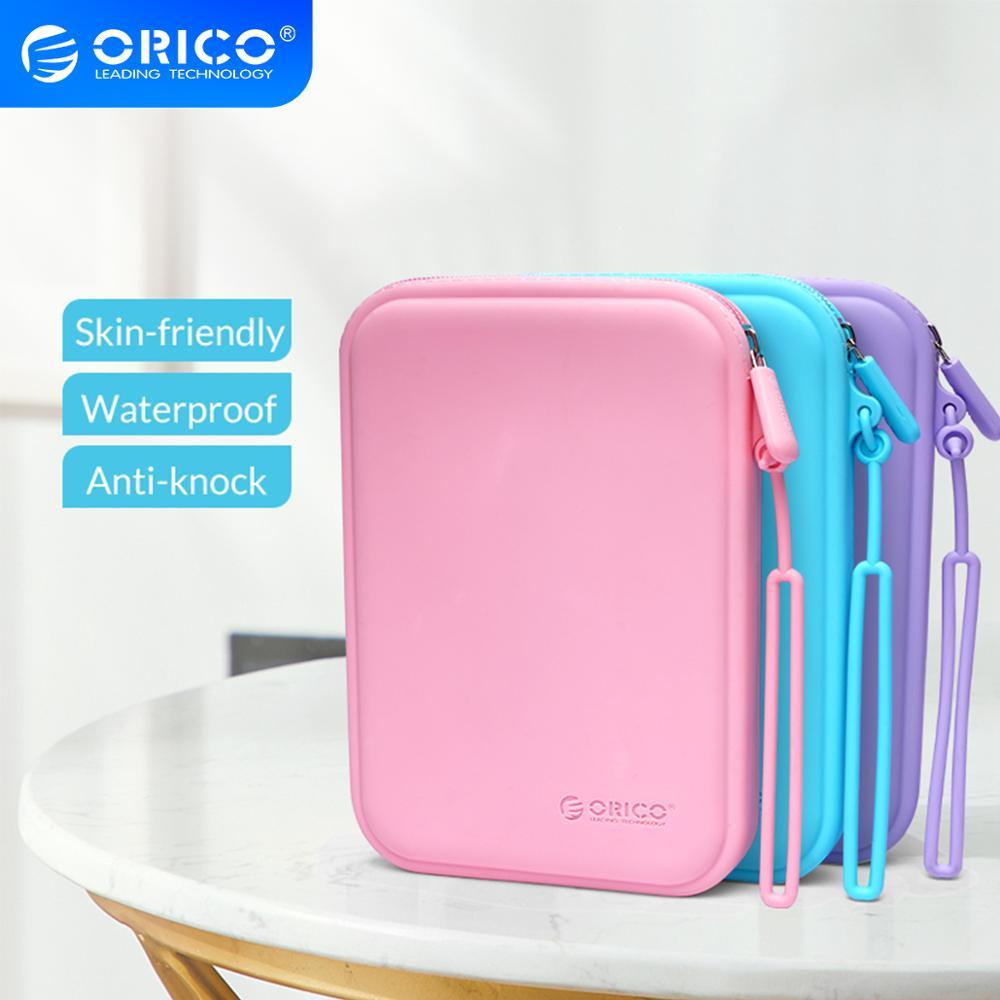 ORICO Портативный прочный силиконовый чехол для наушников USB кабель u диск защитный ящик для хранения водонепроницаемый цветной|Аксессуары для наушников|   | АлиЭкспресс