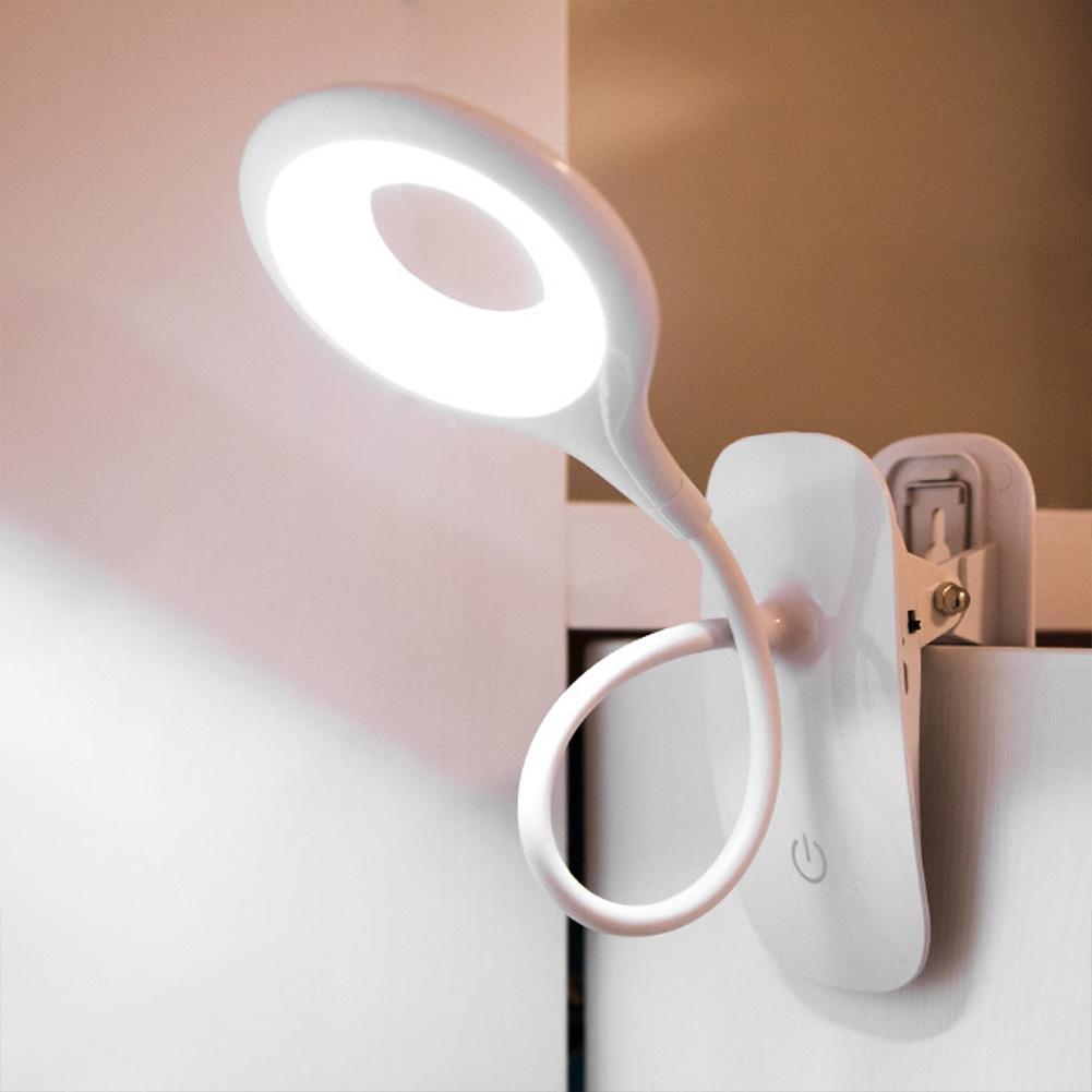 Table Lamp Led Desk Lamp Touch Clip Study Lamps Magnifier Gooseneck Desktop Usb Table Light Rechargeable Study Reading Light