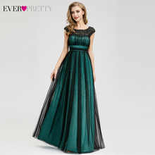 Elegant Lace Evening Dresses For Women Ever Pretty A-Line O-Neck Sleeveless Ruched Formal Gowns Party Vestito Lungo 2019
