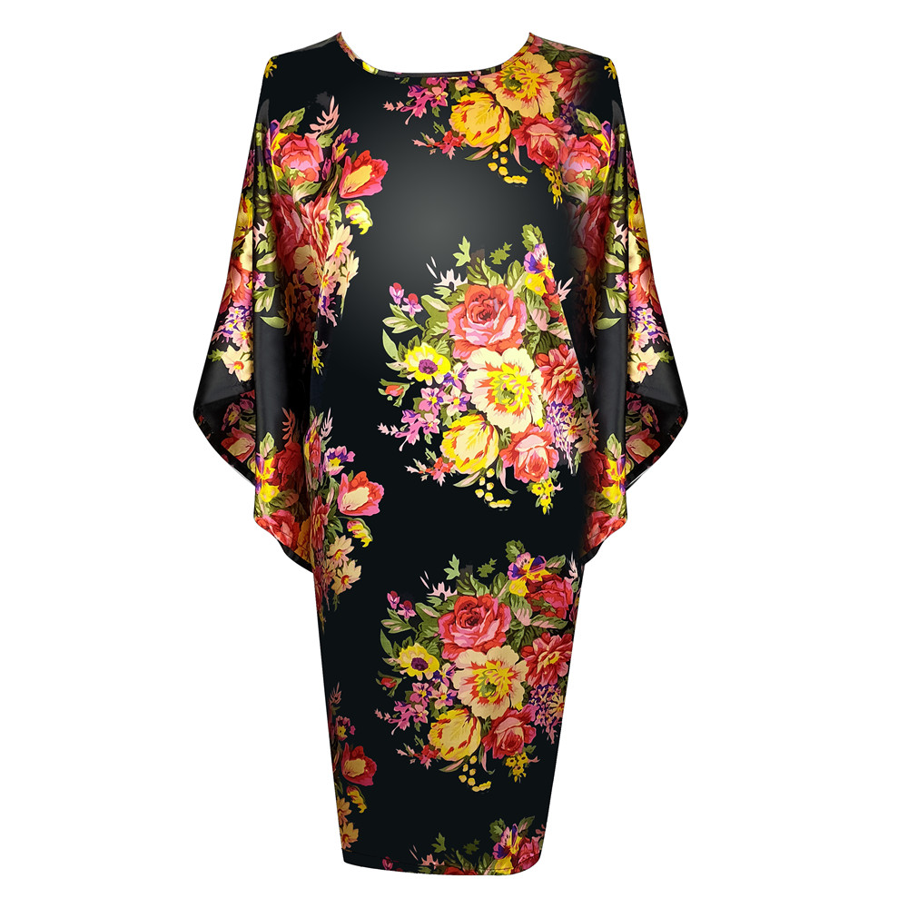 Large Size 4XL 5XL 6XL Female Robe Print Kimono Bathrobe Gown Satin Sleepwear Home Dressing Gown Summer Nightgown Negligee