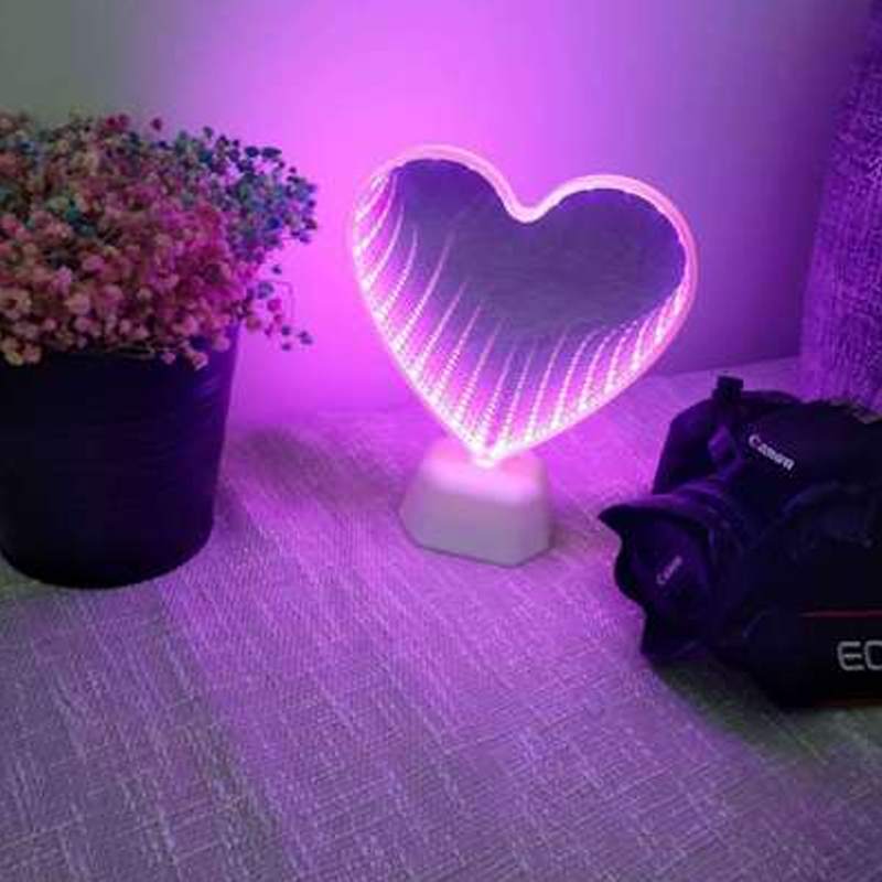 New I/2PCS 3D Love Heart Marquee Letter Lamps Indoor Nights Lamps LED Night Light Wedding Decor Romantic Valentine's Day Gift
