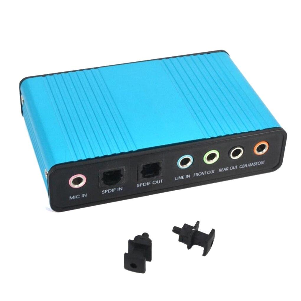 External USB 6 Channel 5.1 / 7.1 Surround External Sound Card PC Laptop Desktop Tablet Audio Optical Adapter Card Converter 3