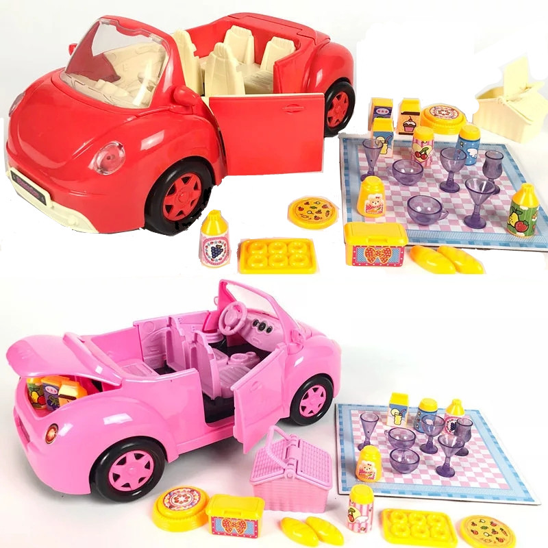 New Peppa Pig Little Girl George Toy Car Red Pink Set Action Character Cartoon Child Christmas