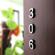 Newest 10Pcs 0 to 9 Self Adhesive Door House Numbers Address Plaques for Residence Mailbox Signs