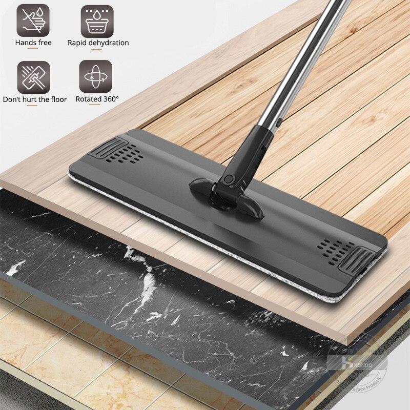 Elettrico ricaricabile Rotary Mop 360 gradi di Rotazione Senza Fili Floor Cleaner Scrubber Lucidatore di Pulizia di Microfiber Mop per la Casa - 6