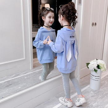 Fashion Girls Clothes Set Teen Girls Tracksuit Spring Autumn Long Sleeve 2pcs Children Suits Little Girl Sets 4 6 8 10 12 years 1