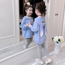 Ragazze di modo Vestiti Regolati Ragazze Adolescenti Tuta di Autunno della Molla Manica Lunga 2pcs Dei Bambini Vestiti Bambina Set di 4 6 8 10 12 anni