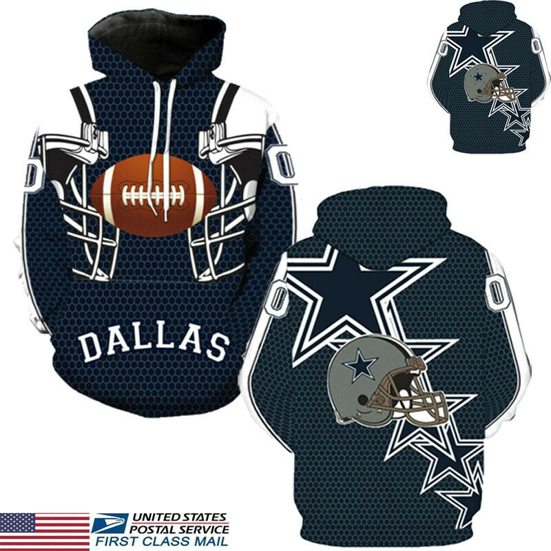 Dallas Cowboys Print Long Sleeve Sport Hoodie Sweatshirt 2019 Brand New Fashion  Jumper Hooded Coat Hot Sale Tops Hoodies