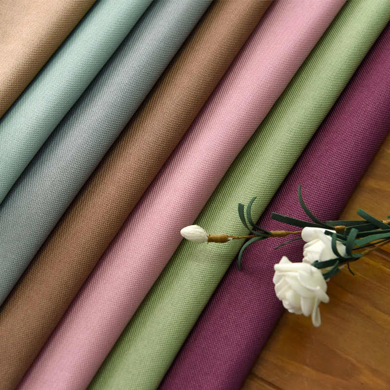 Thicken Blackout Curtains for Living Dining Room Bedroom  Velvet Hemp Curtain Fabric Solid Custom Curtain Fabric