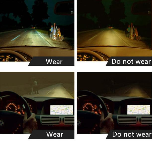 Anti Glare Night Driving Glasses For Headlight Polarized Driving Sunglasses UV400 2