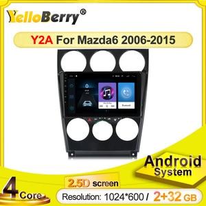 Quad Core Android Car Multimedia Player Auto Radio Audio Stereo For MAZDA 6 2006-2013 GPS Navigation MP3 MP4 wifi Modem NO DVD