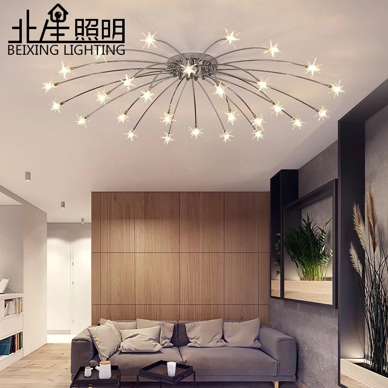 Modern K9 Crystal LED  Star Ceiling Chandelier Lights Fixture Gold Home Lamps Living Room Bedroom Kitchen