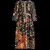 Female Silk Loose 2021 Summer Vintage Floral Print O-neck Casual Elegant Women Dress Plus Size M-4XL Ladies Clothing Vestidos 5