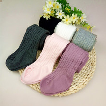 Baby Solid Cotton Tights Newborn Knitting Pants Autumn Winter Soft Warm Kids Children Elastic Trousers Pantyhoses Infant Meisje