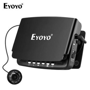 Самый Новый! Eyoyo 15м камера рыбоискатель подводная рыбалка 1000TVL подледный лов запись видео DVR 8 инфракрасные светодиоды+солнцезащитный козыре