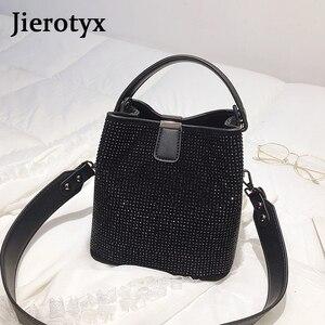 Image 5 - JIEEOTYX Diamanten Frauen Eimer Tasche Berühmte Marke Designer Weibliche Handtaschen Qualität Pu Leder Schulter Taschen Dame Kleine Umhängetasche
