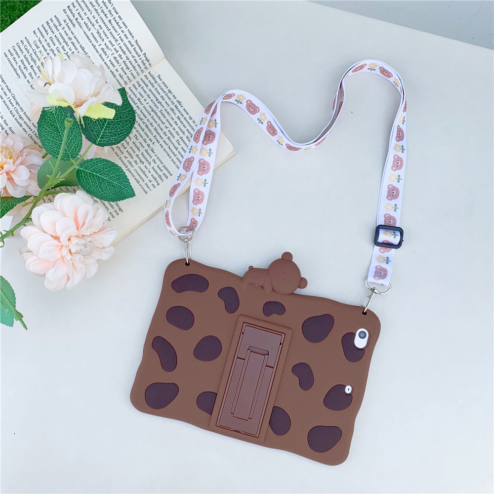 Brown with Lanyard Green Kids Stand Soft tablet Capa Case For 2020 ipad pro 11inch Cute Rabbit Cartoon Silicon Funda