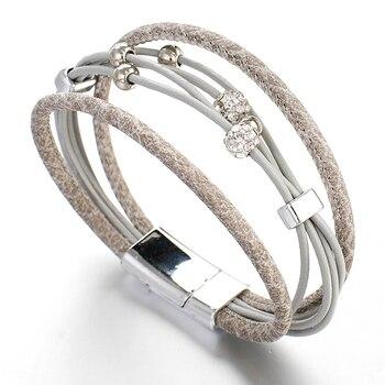 Leather Wrap Bracelet Boho Product image 4