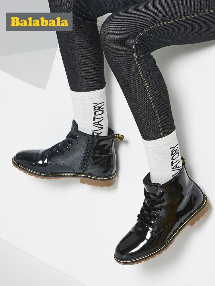 balabala botas criancas inverno pele tornozelo botas para meninas da crianca moda meninas botas de neve