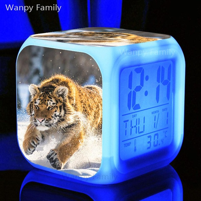 Roaring Tiger Alarm Clock 7 Color