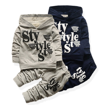 Baby Clothes For Boys Alphabet Long Sleeve Top Pants 2-Piece Set Autumn Sweater Suit Children's Clothing Apparel Outfit 1
