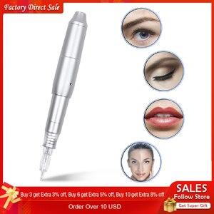Image 1 - Hd de vídeo permanente maquiagem máquina tatuagem máquina caneta giratória com agulha para microblading sobrancelha lábio gun tatoo caneta kits ue