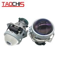 TAOCHIS Hella 3 5 Head lamp Bi xenon Projector Lens Blue film Car styling Aluminum 3.0 Inch D1S D3S D4S D2S Bulbs H4 Retrofit