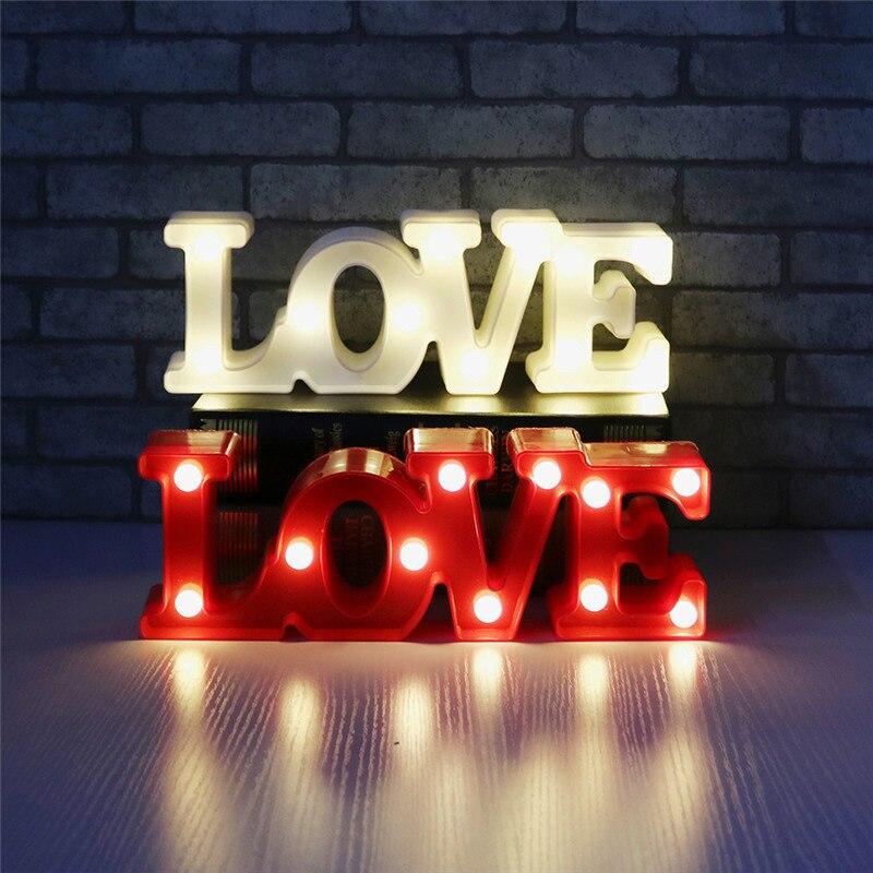 Romântico proposta dos namorados 3d amor led carta sinal luz da noite marquise candeeiro de mesa lanternas nightlights para o casamento de natal