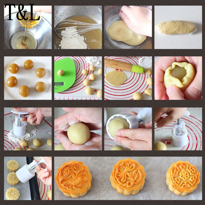 50 g Mooncake Baril Moule 3D RABBIT STAMP Presse à Main Lune Gâteau Pâtisserie Moule À faire soi-même