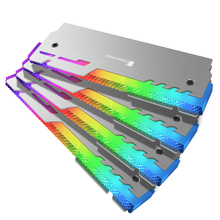 JONSBO NC-3 Оперативная память 5V ARGB 3Pin MOBO/AURA SYNC стример охлаждающий жилет светодиодный радиатор памяти с украшением в виде кристаллов Форма 2 шт