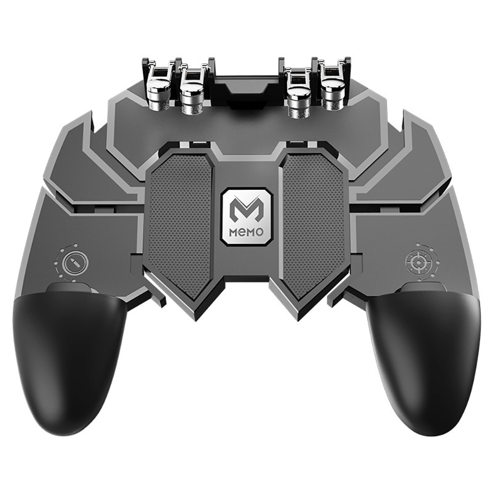 For PUBG AK66 Six Fingers Mobile Game Controller Gamepad Trigger Aim Button L1R1 Shooter Joystick for IOS Android Mobile Phone