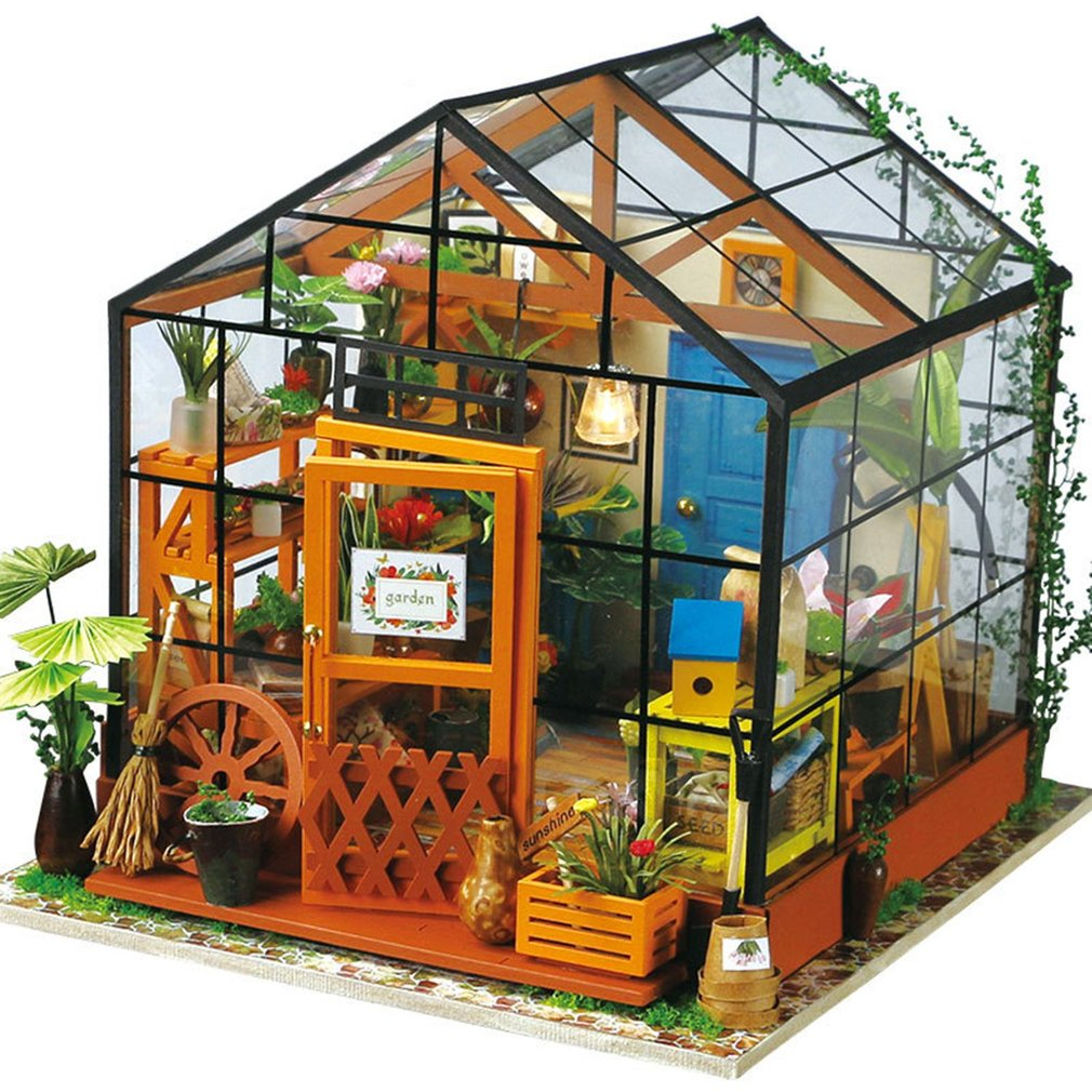 Dollhouse For Doll Robotime 3D DIY Wooden Puzzle Miniature Furniture Building Model Home Decoration Woodcraft Gift For Children