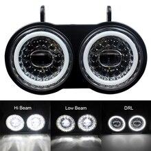 ביואל XB דגם 2003 2010 שנים כפולה LED פנס לבן DRL שימוש אופנוע הרכבה פנס תקע ולשחק