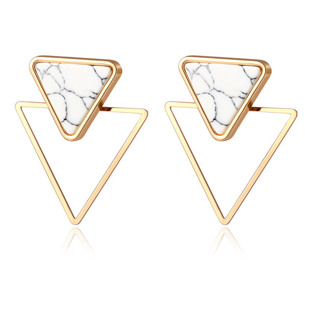 BICUX nouvelle mode ronde pendaison boucles doreilles coréennes pour les femmes géométrique rond coeur or boucle doreille bijoux de mariage