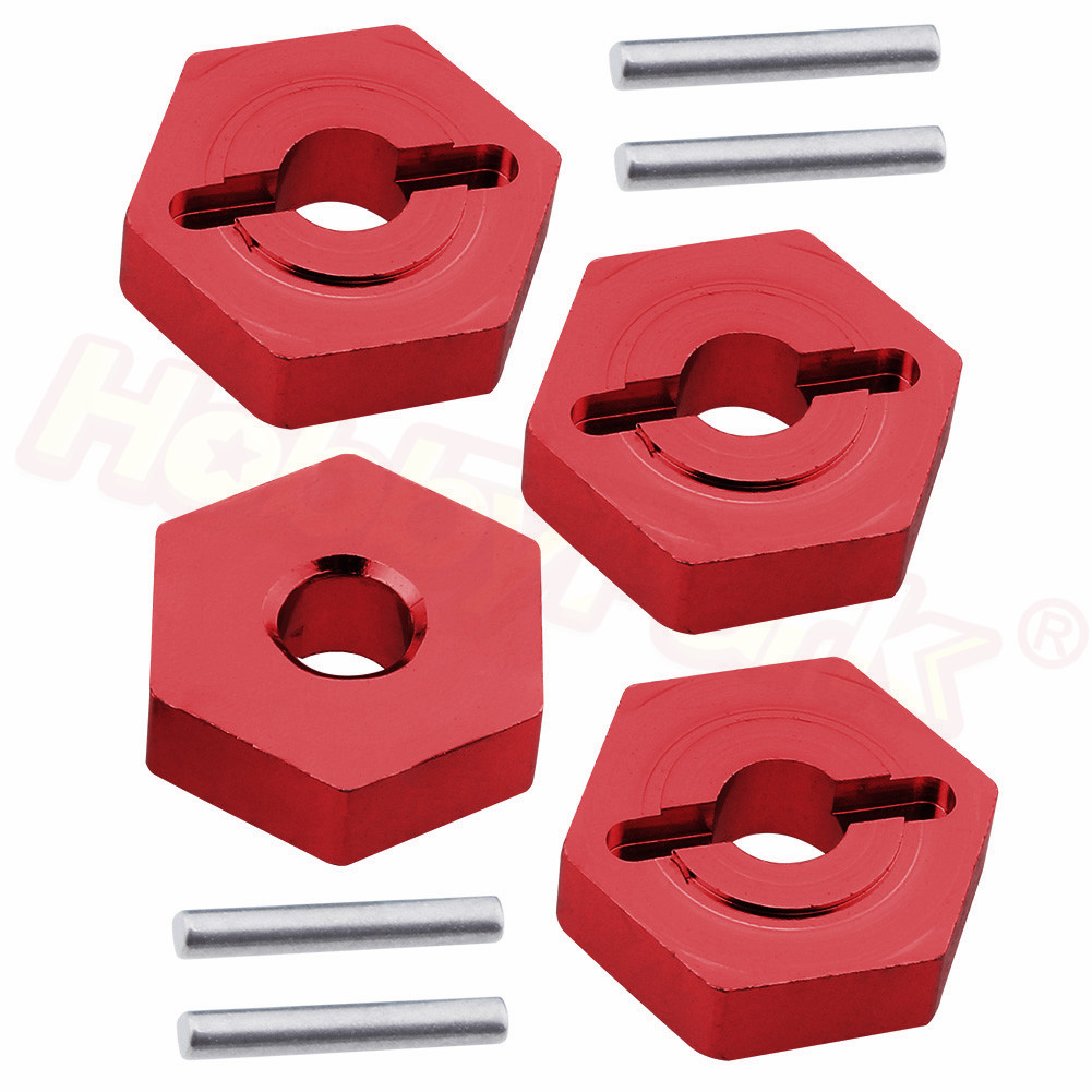 4pcs Aluminum 12mm Wheel hubs Hex With Pins 1.5x9.5mm For Traxxas 1/16 Slash 4WD E-Revo/VXL Summit VXL RC Car Hop Up Parts 7154X