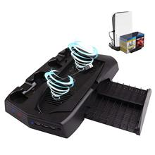 Vertical Stand With Cooling Fan Digital UHD 3 USB Hubs 2 DualSense Controller Charging Cradles And 14 Gaming Slots For PS5