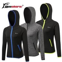 Queshark Running Jacket Women Yoga Zipper Long Sleeve Shirt Women Sport Jacket Fitness Ladies Hoodies Sports Women's Clothing