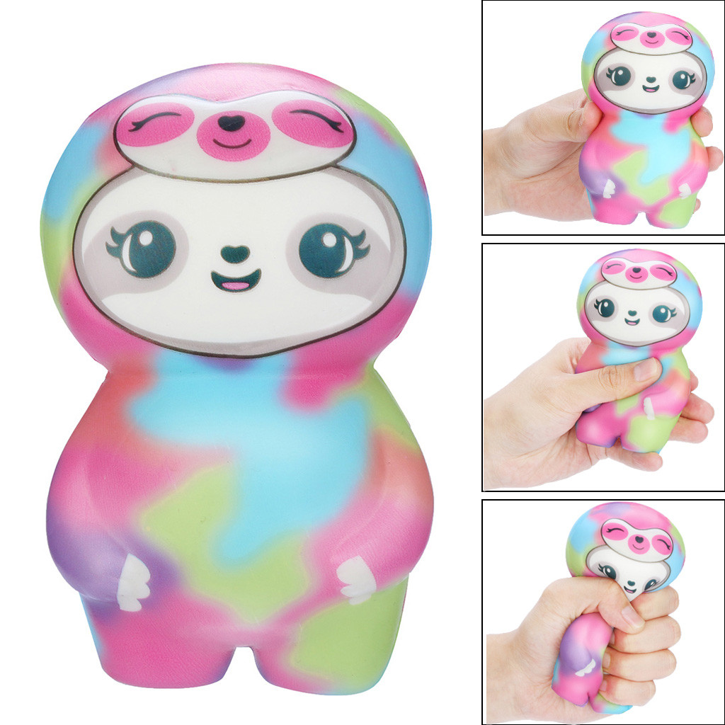 Cute Sloth Soft Squishies Cream Fruit Scented Kawaii Animal Slow Rising Squeeze Toy Stress Relief Antistress For Kids Gift