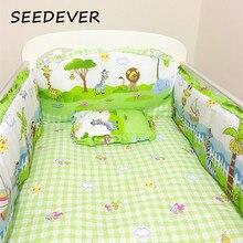 Комплект постельного белья для детей, 6 шт., детская кроватка, бамперы, матрас, подушка на спине, хлопок, детское белье для девочек и мальчиков, 110*60 см
