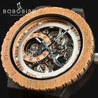 BOBO BIRD деревянные механические часы для мужчин роскошный Ретро дизайн чехол с золотой этикеткой рядом автоматические и многофункциональные...